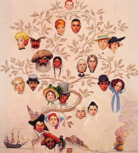Family-Tree-Norman-Rockwell-1959-Stockbridge-Ma-The-Norman-Rockwell-Museum-600x666